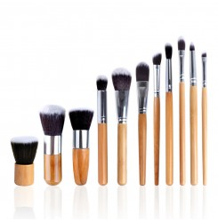 CH031-2#11pcs Bamboo Makeup Brush Set (withno bag)