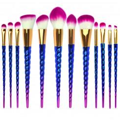 10/12 Pieces Colorful Unicorn Makeup Brush Set