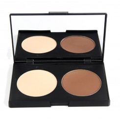 Wholesale & OEM Professional Cosmetics Products Waterproof 2 Colors Contour Makeup Palette with Mirror