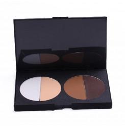 Wholesale & OEM Professional Cosmetics Waterproof 4 Colors Mineral Makeup Contour Palette